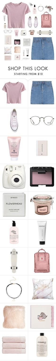 """this girl"" by junglex ❤ liked on Polyvore featuring Converse, Ray-Ban, Sisley, Fujifilm, NARS Cosmetics, Byredo, philosophy, Context, Fjällräven and Pillow Decor"