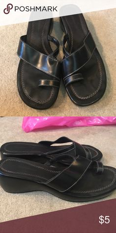 Hillard & Hanson Wedge Sandals. Size 8. Hillard & Hanson Wedge Sandals. Size 8. Worn But Still In Great Condition! Hillard & Hanson Shoes Wedges