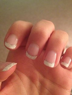 My wedding nails :) so pretty! I didn't want fake ones so I was worried how they'd turn out but I love them.. And my toes match