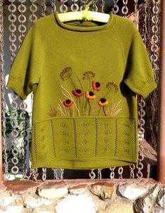 """Купить Джемпер для девочки """"Сказочное деревце"""" - коричневый, однотонный, пуловер вязаный, пуловер для девочки"""