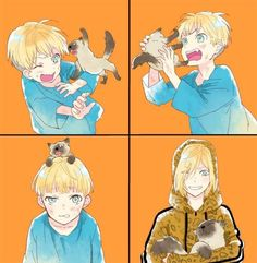 Anime Et Manga - Yurio and cat on ice Yuri Plisetsky, Yuri On Ice, Yurio And Otabek, Chibi, Geeks, Ice Art, ユーリ!!! On Ice, Cute Anime Character, Kawaii