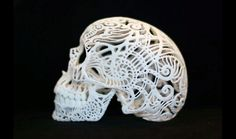 Check out this 3D-printed filigree skull! So cool.
