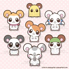 Hamtaro and Friends by x-SquishyStar-x.deviantart.com on @deviantART