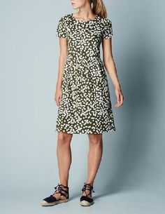 Boden Pretty Jersey Dress Kale Blossom Women Boden, Made from a drapey cotton blend, this pretty dress comes in solid navy or classic black (for less-is-more days), as well as two modern ditsy prints. Team with courts and a blazer for an easy nine-to-f http://www.MightGet.com/january-2017-13/boden-pretty-jersey-dress-kale-blossom-women-boden-.asp