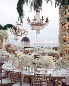 Cue the wanderlust vibes and reasons to have an outdoor reception! Tag a bride that would just love this fairytale setting! Cute Wedding Ideas, Wedding Goals, Perfect Wedding, Wedding Planning, Dream Wedding, Lake Como Wedding, Wedding Venue Decorations, Wedding Themes, Luxury Wedding Decor