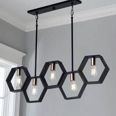 Contemporary Lighting Tips on How to Match Your Contemporary Home Design With Modern Lighting Modern Hexagon Linear Chandelier. Linear Chandelier, Black Chandelier, Chandelier Shades, Chandelier Lighting, Chandelier Ideas, Outdoor Chandelier, Accent Lighting, Outdoor Lighting, Contemporary Light Fixtures