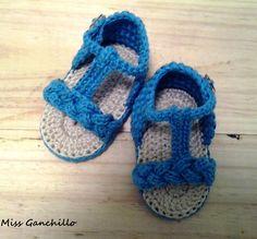 Miss Ganchillo: Sandalias a ganchillo para bebé