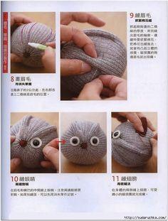 Идеи по шитью игрушек из носок. Sock Toys DIY tutorial.