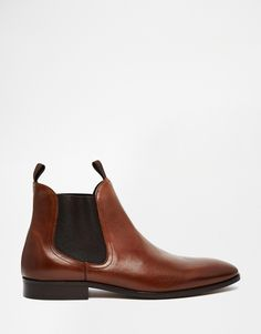 Dune : Leather Muggles Chelsea Boots | $233.00.