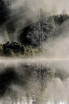 Fog Mirror, By Carl Othar Olsen.