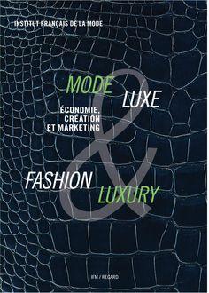 MODE & LUXE : ÉCONOMIE, CRÉATION ET MARKETING. L'IFM revient sur les évolutions récentes et décisives des univers de la mode et du luxe. Les enjeux sociétaux et les stratégies économiques de ces secteurs ne cessent en effet de préfigurer les mutations de l'ensemble des industries créatives ainsi que celles de notre économie de consommation. Cet ouvrage s'organise autour de plusieurs axes : la création et le marketing, la marque et l'image, l'internationalisation des marchés e... Cote : 6-275…