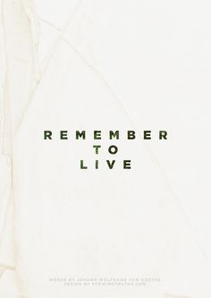 "We forget we're given one life to live. We become focused on living for other people. Don't forget to live for yourself.live each day as if it were your last. Do forget to""just"" live. Words Quotes, Wise Words, Live Laugh Love, Photo Quotes, Live Life, Favorite Quotes, Encouragement, Wisdom, Positivity"