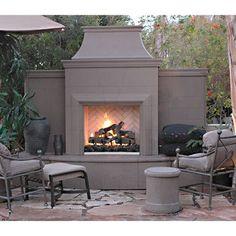 American Fyre Designs Grand Petite Cordova Outdoor Fireplace | WoodlandDirect.com: Outdoor Fireplaces: Fireplace Units - Gas, American Fyre Designs #LearnShopEnjoy