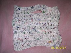 This is a tote bag I made from crocheted strips of plastic grocery bags.
