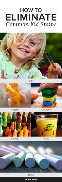 Super Stains! How to Eliminate 9 Common Kid Spots and Spills