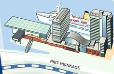 Piet Heinkade in Amsterdam, Noord-Holland