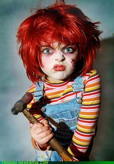 chucky costume idea awesome and scary - Scary Diy Halloween Costumes