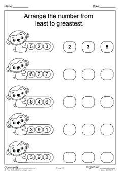 Worksheet | Ordering Numbers 1 - 20 | Write the numbers in ...