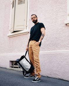 FREITAG   E-FABRIC   Not an It-Boy Going To Work, Going Out, Black Pants, Khaki Pants, Jeans Fabric, Night Looks, Black Fabric, Casual Chic, Casual Looks