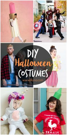 50+ DIY Halloween Costume Ideas - including family costumes, kids costumes, adult costumes, and couples costumes!! Find some Halloween inspiration on { lilluna.com }