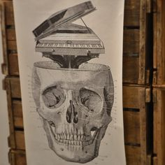 Skull poster from Tokyo Milk.