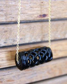 Hey, I found this really awesome Etsy listing at https://www.etsy.com/listing/106364455/spiderweb-bead-necklace-vintage-black