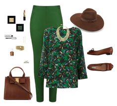 Green by dmiddleton on Polyvore featuring polyvore, fashion, style, Agnona, Andrea Marques, Fratelli Rossetti, BCBGMAXAZRIA, BCBGeneration, Lack of Color, Bobbi Brown Cosmetics, Essie and clothing