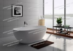 8619- Solid Surface White Matt Spa Bathtubs-JINGZUN Finish :matt or gloss Color: white/black/red/others Website: http://jingzun-bath.en.made-in-china.com