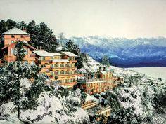 Snowfall at Hotel Country Villa!!