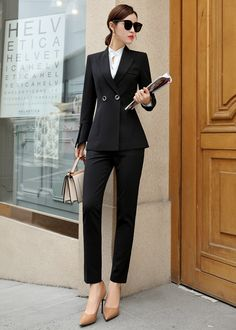 Modern Outfits, Classy Outfits, Pretty Outfits, Chic Outfits, Fashion Outfits, Downtown Outfits, Lawyer Fashion, Suits For Women, Clothes For Women