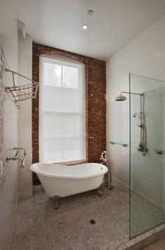 tub in shower bathrooms