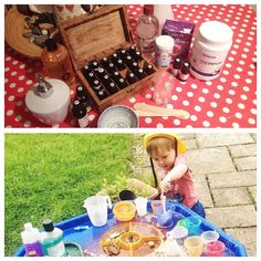 Day 30 #30dayswild last day of this fantastic challenge and we have been making #organic #ecofriendly household products and Benjamin has been making #potions on his #tufftray #wildlifetrust #organiclife #environmentfriendly #playoutside #letkidsplay #letkidsgetdirty #letkidsexplore #experiment #essentialoils #coconutoil #whitevinegar #bicarbonateofsoda #castilesoap #teatree #aromatherapy