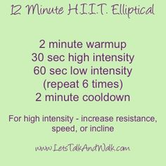 HIIT exercises include short yet extensive exercise sessions, which is why it is really crucial for the pre-workout diet to be high in energy. Sport Fitness, Fitness Tips, Fitness Motivation, Health Fitness, Fitness Plan, Hiit Elliptical, Tabata, Week Diet, Detox Week