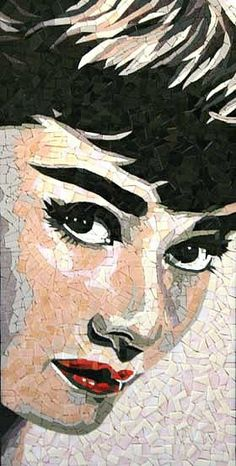 Portrait actrice mosaique http://www.mosaiconarede.com.br/galeria-mosaico-1109.php