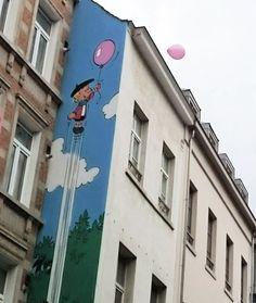 3d Street Art, Lucky Luke, Graffiti, Land Art, Urban Art, Comic Strips, Art Images, Art Drawings, Sculptures