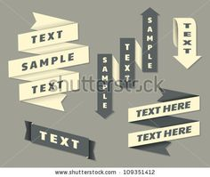 stock vector : A set of banners in vintage style.
