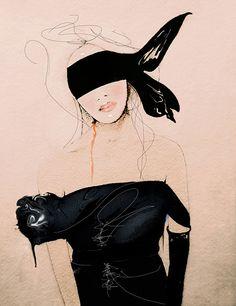 Lanvin2 SS/10-moda ilustración impresión del arte