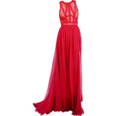 Dresses ❤ liked on Polyvore featuring dresses, gowns, vestidos, long dresses, red ball gown, red carpet dresses, red dress and red evening dresses