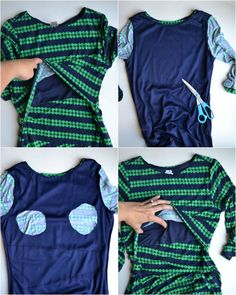 Sewing Maternity Clothes, Diy Nursing Clothes, Maternity Sewing Patterns, Maternity Nursing Dress, Nursing Clothing, Nursing Shirts Breastfeeding, Breastfeeding Fashion, Nursing Wear, Nursing Tops