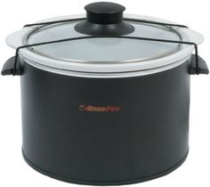 RoadPro RPSL-350 12V 1.5 Quart Slow Cooker RoadPro. This crockpot includes a stretch cord to secure the lid while cooking. Additionally, cleanup is eased by using slow cooker disposable liners, sold online and in stores. #trucking