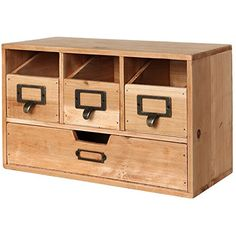 Rustic Desktop Wooden Office Organizer Drawers / Craft Supplies Holder Storage Cabinet, Brown – MyGift Desktop storage cabinet featuring burnished brass-tone metal handles and a rustic-style … Craft Storage Drawers, Wooden Storage Boxes, Storage Cabinets, Bathroom Storage, Rv Bathroom, Storage Shelves, Storage Ideas, Desktop Organization, Office Organization