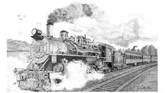 Spirit of steam drawing old steam train drawings for Sacred addition tattoo east bridgewater ma