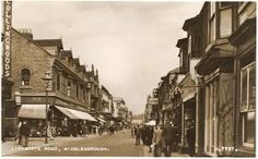 1940s Valentine postcard of Woolworths at 51-67 Linthorpe Road, Middlesbrough