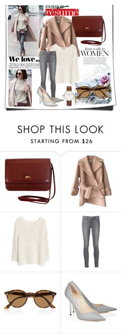 """""""Untitled #123"""" by amina-haskic ❤ liked on Polyvore featuring Carven, MANGO, Paige Denim, Ray-Ban, Jimmy Choo, Daniel Wellington and Zara"""