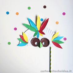 Una maschera di Carnevale dev'essere originale, allegra e… fatta in casa! Scateniamo la fantasia con delle mascherine uniche per tutte le età! - See more at: http://cartoonitocheidea.it/scheda.php?idProgetto=541  #CartoonitoCheIdea #Cartoonito #Kids #Bambini #Festa #Party #Carnevale #Carnival