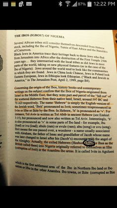 Black People Are Apart Of The Chosen Bible Speaks About