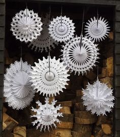 Set Of 50 Christmas Snowflake Paper Decorations - view all decorations