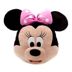 El cojín con cara de Minnie es suave, alegre y divertido. Con un acabado supersuave, la encantadora estrella de Disney ilumina cualquier habitación con su agradable sonrisa, una nariz 3D y sus famosas orejas redondas y lazo de lunares.