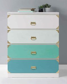 plaid ombre dresser