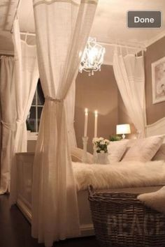 Romantic DIY Four Poster Bed